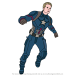 How to Draw Captain America from Avengers Endgame
