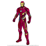 How to Draw Iron Man from Avengers Endgame
