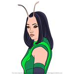 How to Draw Mantis from Avengers Endgame