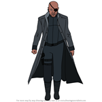 How to Draw Nick Fury from Avengers Endgame