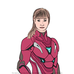 How to Draw Pepper Potts from Avengers Endgame