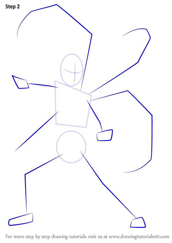 how to draw iron spide