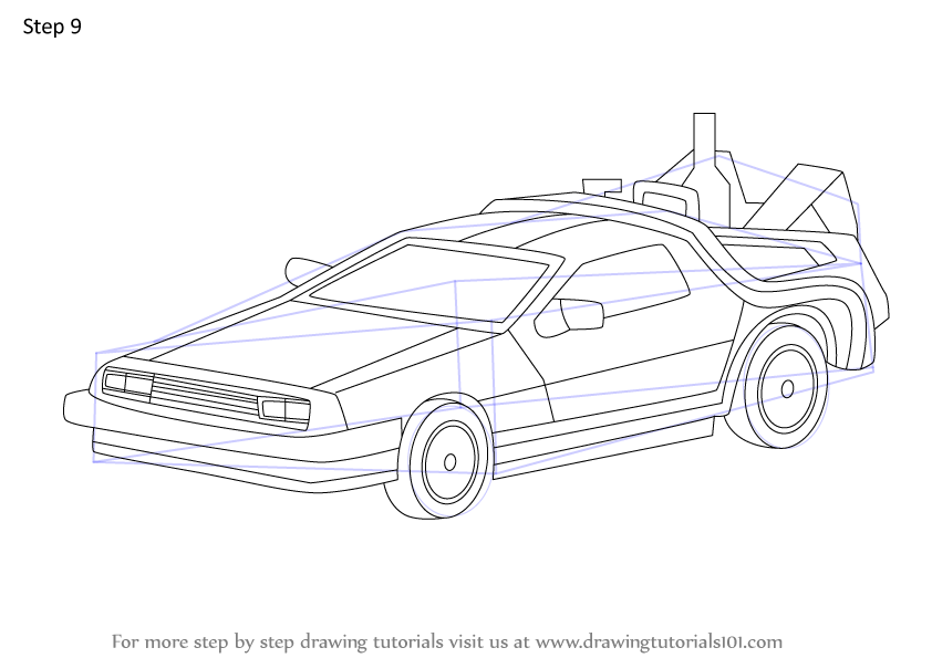 Learn How to Draw DeLorean from