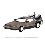How to Draw DeLorean from Back to the Future