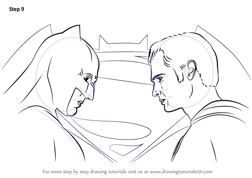 Learn How to Draw Batman vs Superman