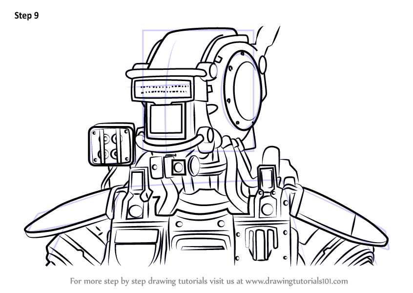 Learn How To Draw Chappie From Chappie Chappie Step By