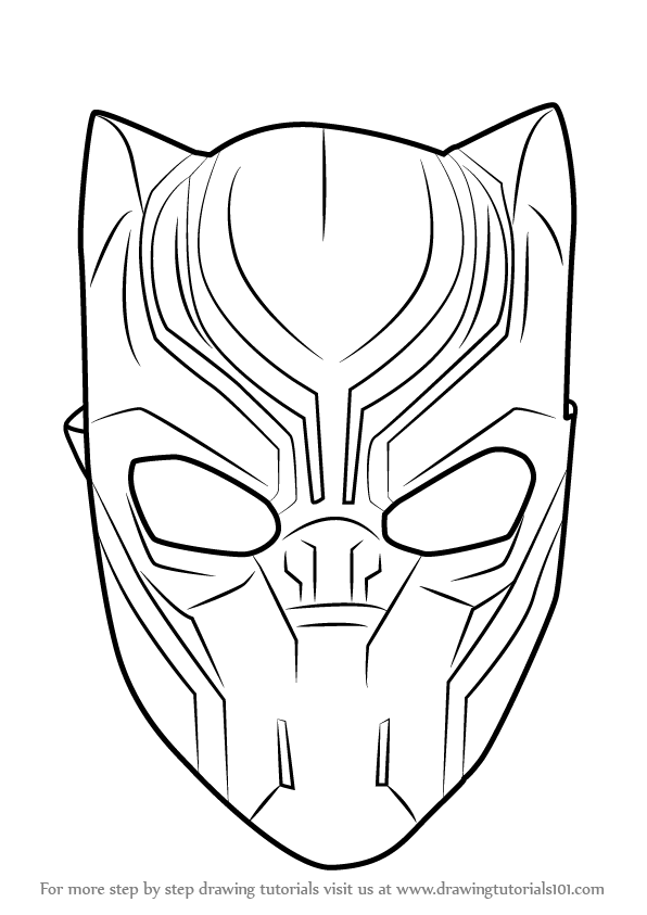 How To Draw A Face Black Panther Free Download Oasis Dl Co