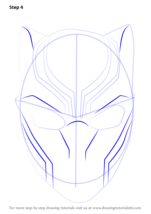 Learn How To Draw Falcon From Captain America Civil War: Learn How To Draw Black Panther Mask (Captain America