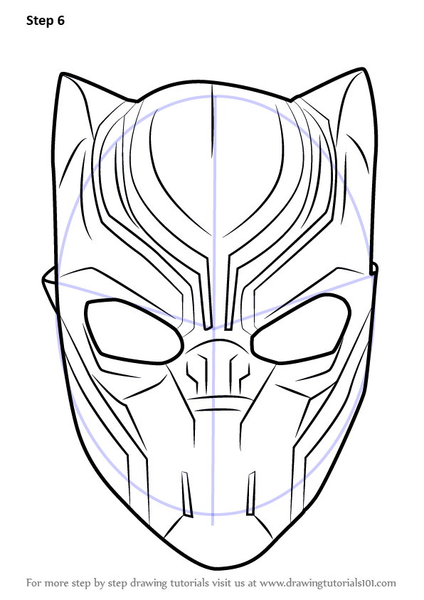 Learn How To Draw Black Panther Mask Captain America