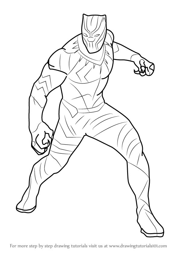 black panther coloring pages coloring page