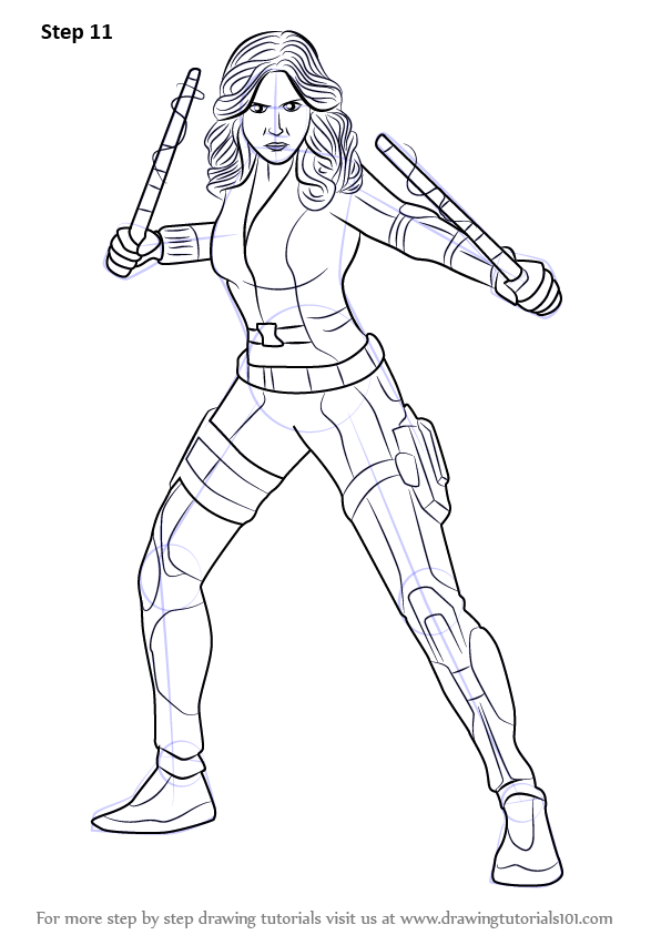 Learn How to Draw Black Widow from