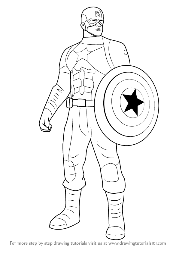 learn how to draw captain america from captain america