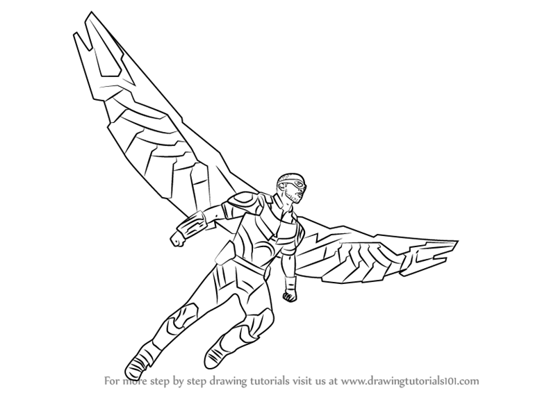 falcon avengers coloring pages - photo#25