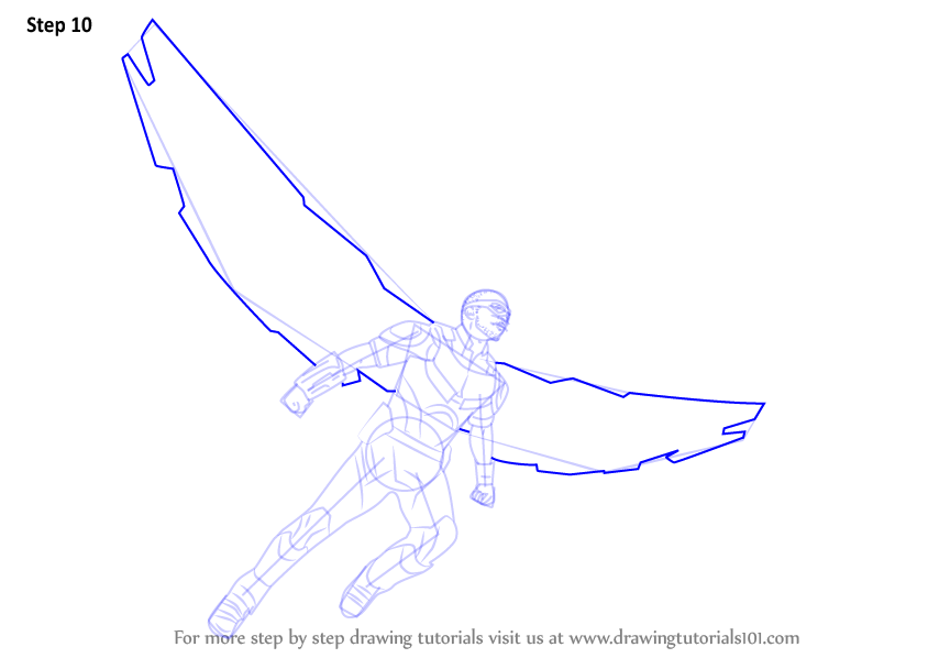 Learn How To Draw Falcon From Captain America Civil War