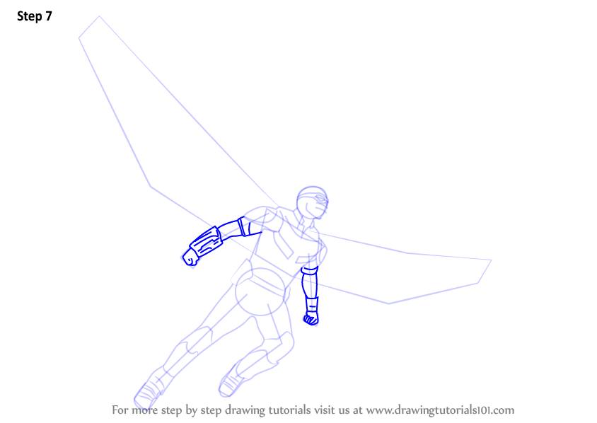 Learn How To Draw Falcon From Captain America Civil War: Step By Step How To Draw Falcon From Captain America Civil