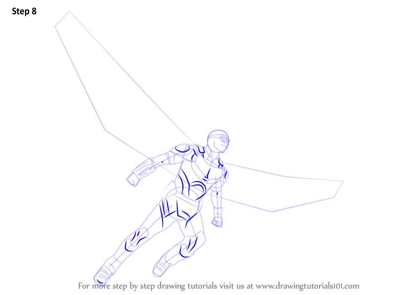 how to draw falcon from grassland