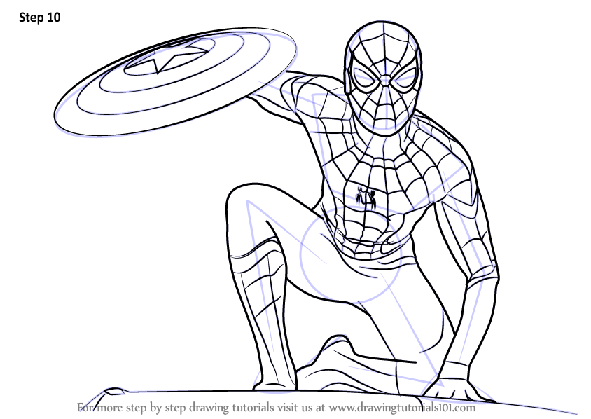 Coloring Pages Spiderman Homecoming - Bltidm
