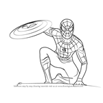 How to Draw Spiderman from Captain America Civil War