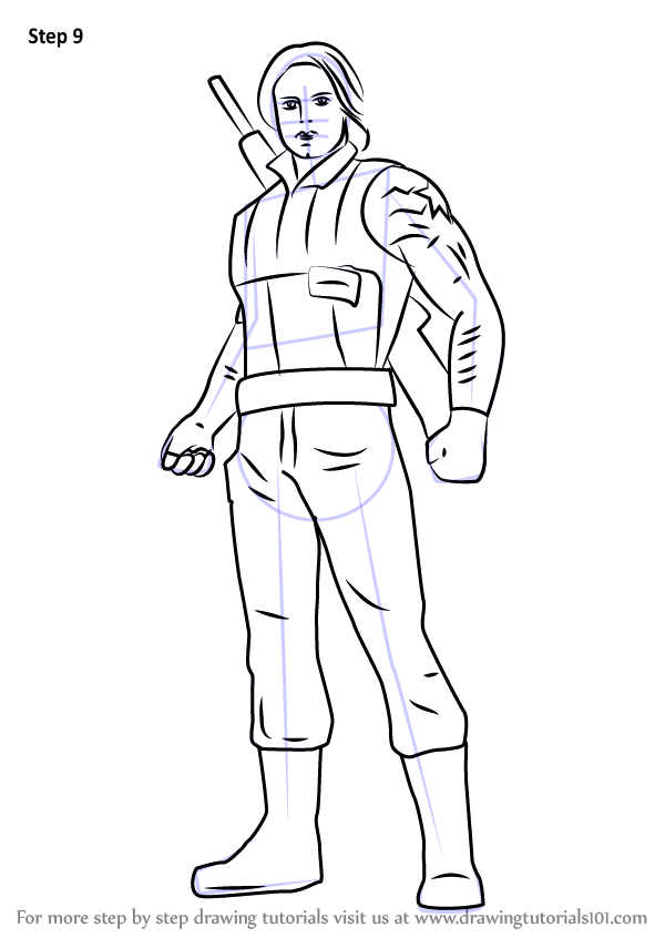 Learn How To Draw Winter Soldier From Captain America