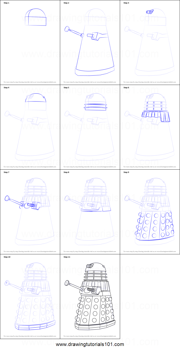 image relating to Doctor Who Printable named How towards Attract Dalek towards Health care provider Who printable phase by means of phase