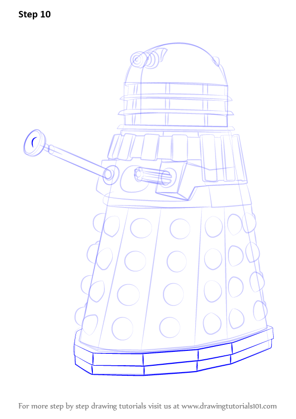 Learn How To Draw Dalek From Doctor Who  Doctor Who  Step