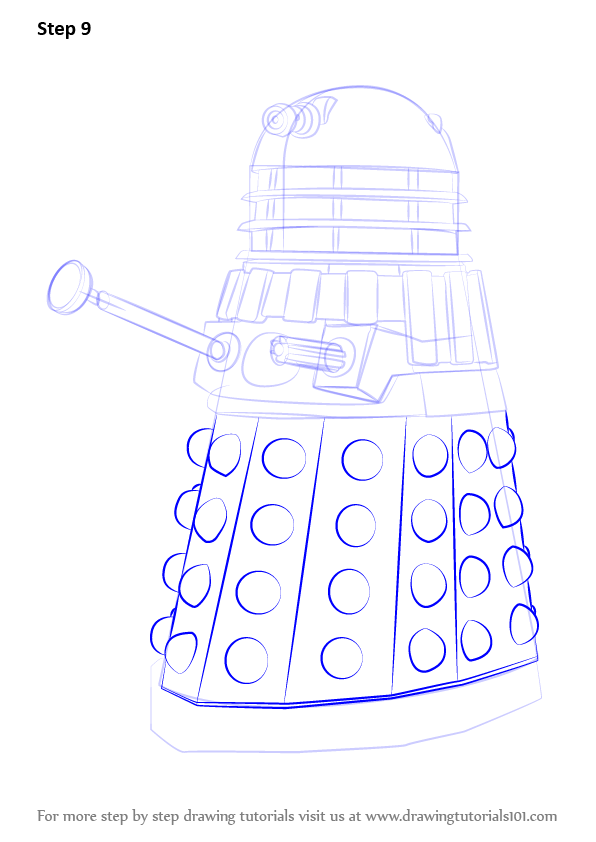 Learn How to Draw Dalek from Doctor Who (Doctor Who) Step ...