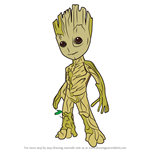 How to Draw Groot from Guardians of the Galaxy