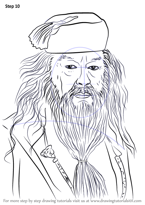 Learn How To Draw Albus Dumbledore From Harry Potter