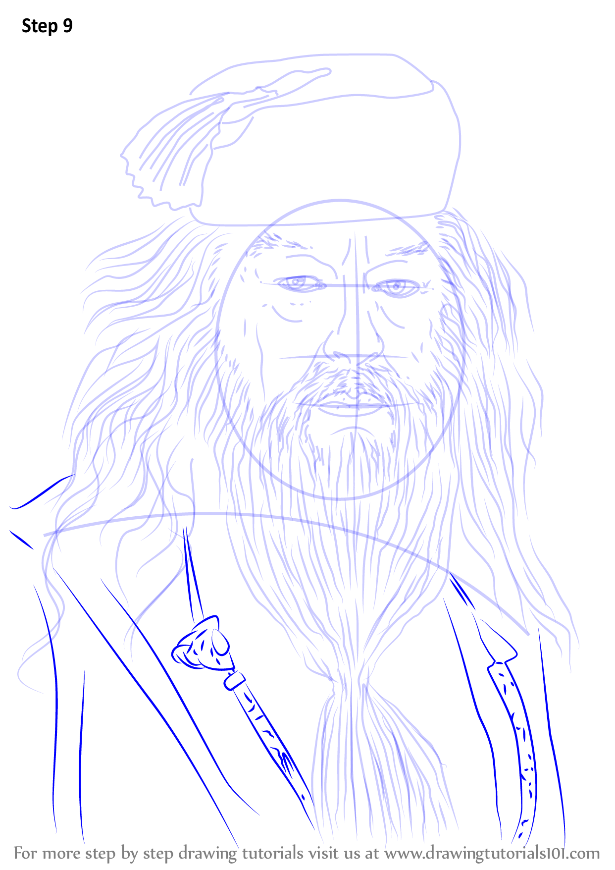 Learn How to Draw Albus Dumbledore from Harry Potter ...