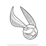 How to Draw Golden Snitch from Harry Potter