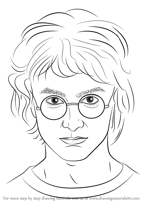 Learn How To Draw Harry Potter Harry Potter Step By Step