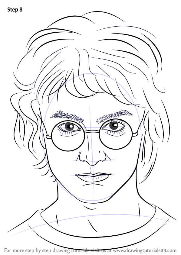 Line Drawing Harry Potter : Learn how to draw harry potter step by