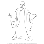 How to Draw Lord Voldemort from Harry Potter