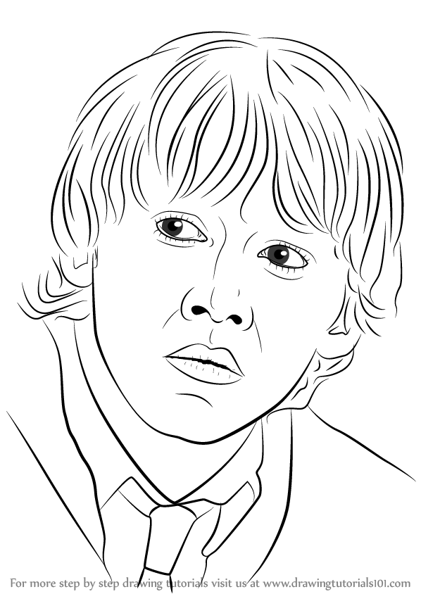 Learn How To Draw Ron Weasley From Harry Potter Harry Potter Step