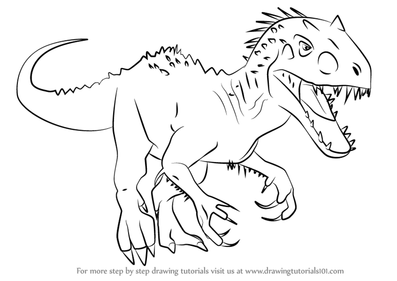 Learn How to Draw Indominus rex from Jurassic World