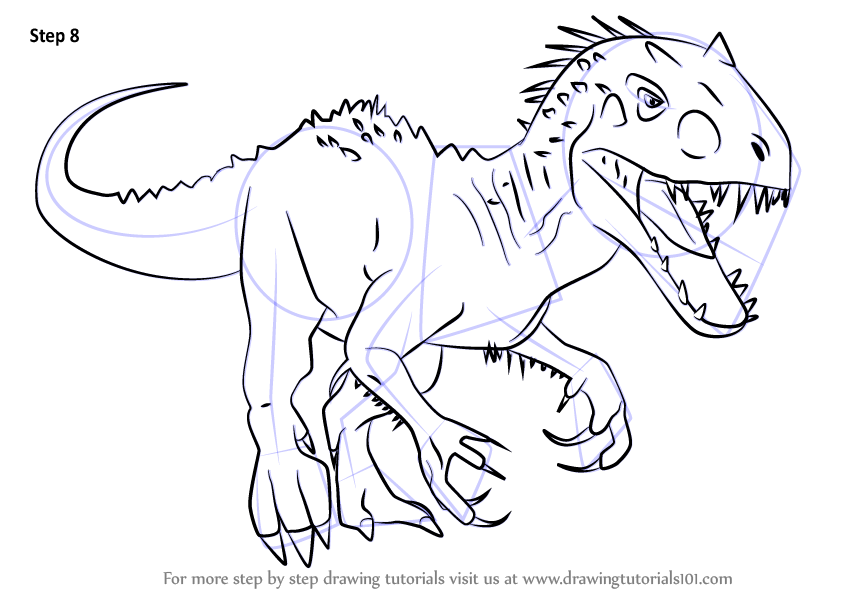 Learn How To Draw Indominus Rex From Jurassic World Jurassic World