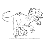 How to Draw Indominus rex from Jurassic World