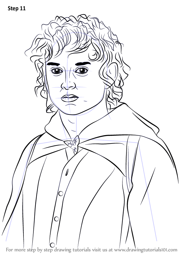 to Draw Frodo Baggins from Lord of the Rings (Lord of the Rings) Step