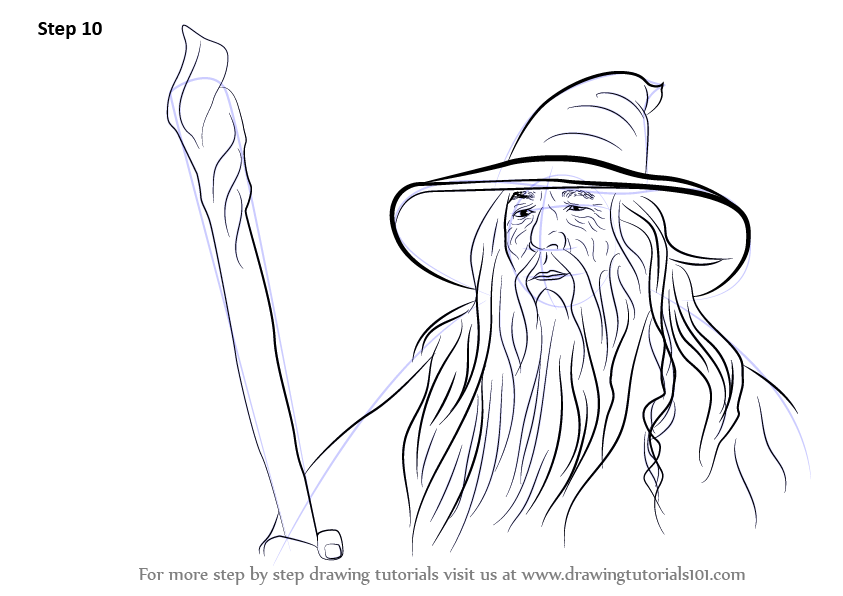 Free Coloring Pages Gandalf
