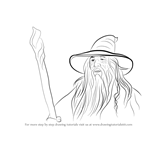 How to Draw Gandalf from Lord of the Rings