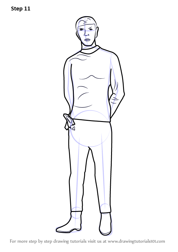 learn how to draw spock full body from star trek  star