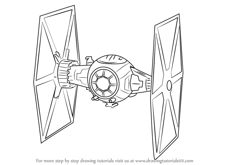Learn How to Draw TIE Fighter from Star Wars The Force