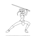 How to Draw Aayla Secura from Star Wars