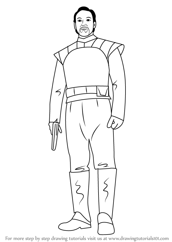 Learn How to Draw Bail Organa from Star Wars (Star Wars ...