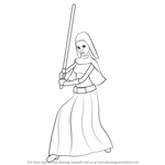 How to Draw Barriss Offee from Star Wars