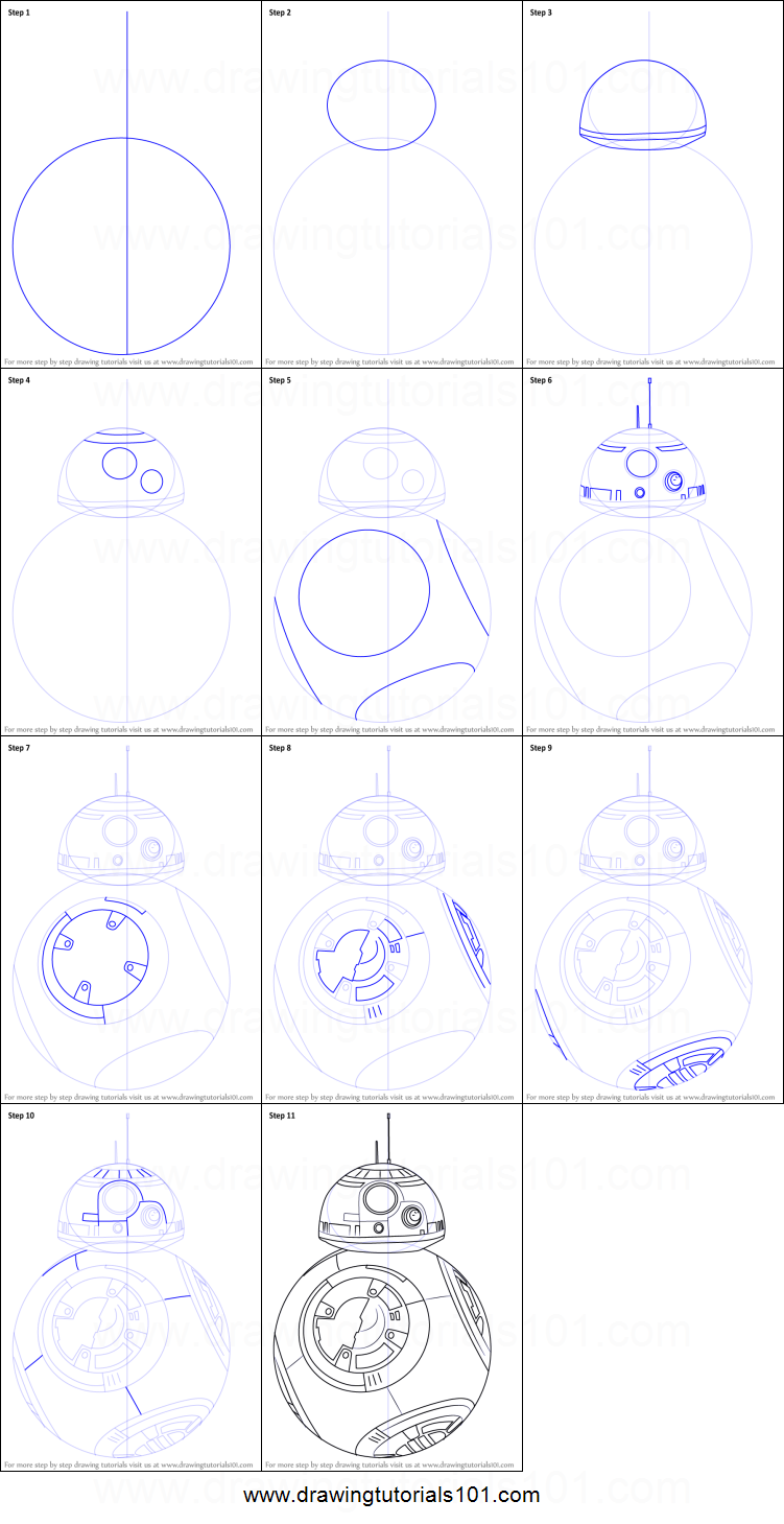 How to Draw BB8 from Star Wars