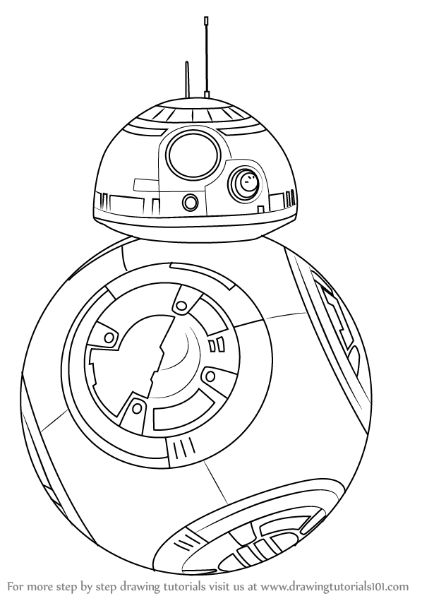 Learn How To Draw Bb 8 From Star Wars Star Wars Step By