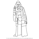 How to Draw Bib Fortuna from Star Wars