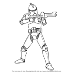 How to Draw Clone Trooper from Star Wars