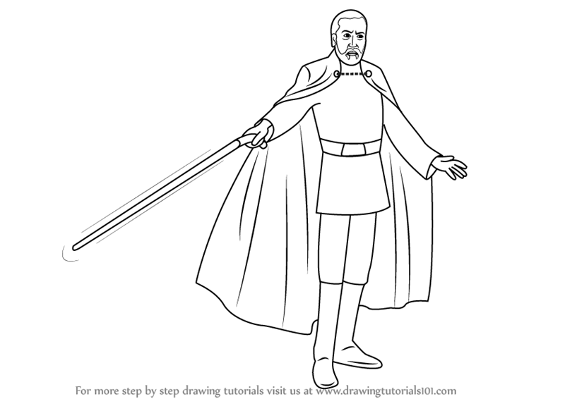 count dooku coloring pages learn how to draw count dooku from star wars star wars